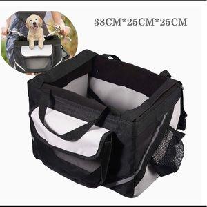 Bicycle pet carrier basket